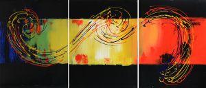 Schilderij 3 luik abstract 150x60 Artello