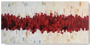 Schilderij abstract rood 100 x 50 Artello