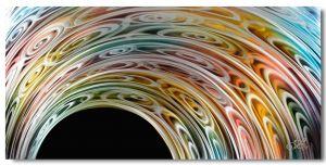 Schilderij Metaal abstract 120 x 60 Artello