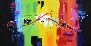 Schilderij modern veelkleurig 120x60 Artello