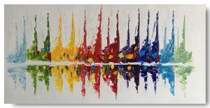 Schilderij zeilboten 100 x 50 Artello